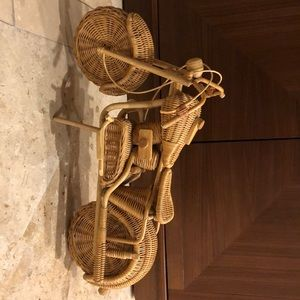 Whicker woven motorcycle